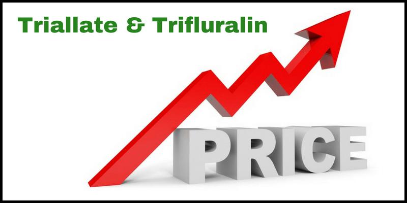 Triallate & Trifluralin market price July 2018 - Crop Smart